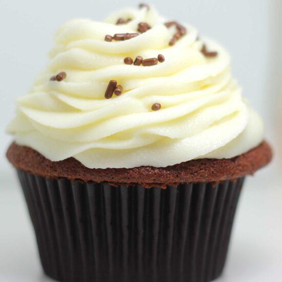 Chocolate Vanilla Cream Cupcakes Bakery